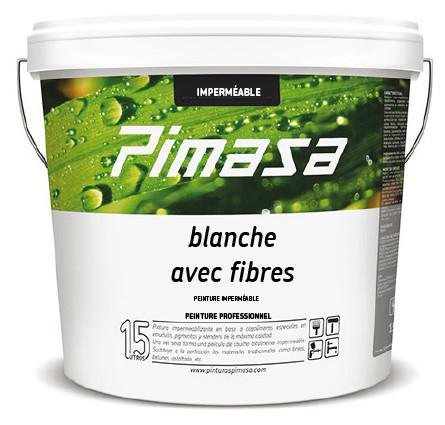 Blanche avec fibres